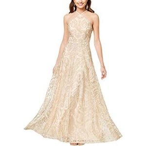 Speechless gold sparkly prom dress